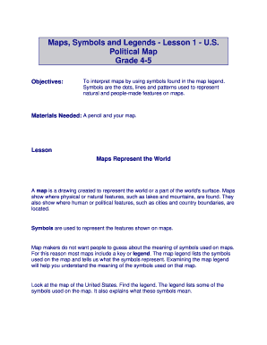 Fillable Online Maps Symbols And Legends Lesson 1 Us - Us-map-legend