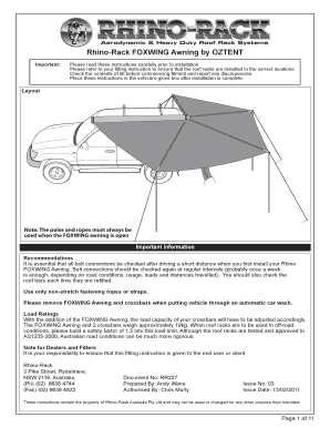 Fillable Online Offroad Obchod Fitting Instructions For Rhino Rack