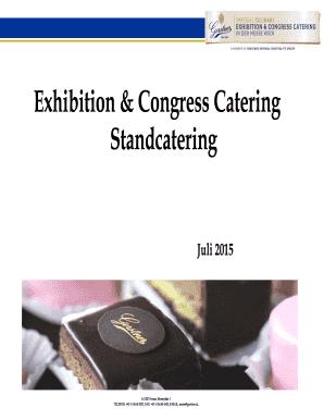 Fillable Online gerstner-hotels Exhibition & Congress Catering ...