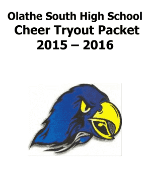OSHS Cheer Tryout Packet 2015-2016 - Olathe South Cheer - Weebly