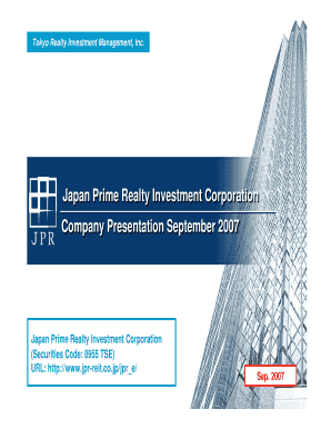 Fillable Online jpr-reit co Tokyo Realty Investment