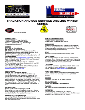 RND 2 TRACKTION AND SUB SURFACE DRILLING WINTER SERIES Entry Formdoc