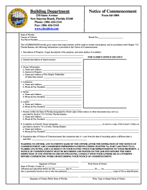 New Smyrna Beach Building Department Forms