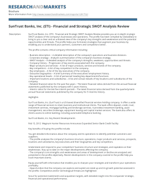 BSunTrustb Banks Inc STI - Financial and Strategic SWOT Analysis bb