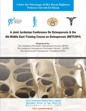 A Joint Jordanian Conference On Osteoporosis amp the 4th - ssfcm
