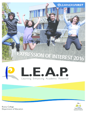 LEAP Brochure - Rosny College - rosnycollege education tas edu