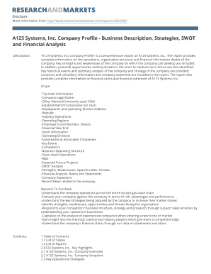BA123b Systems Inc Company Profile - Business Description bb
