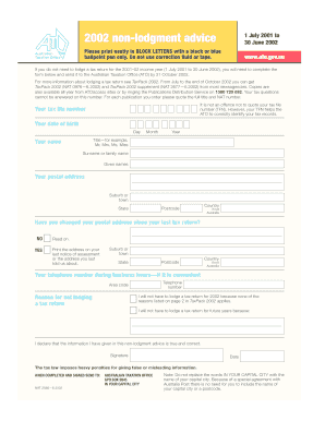 non lodgment forms tax ato pdf