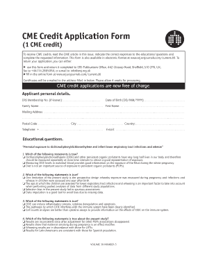 credit application templates