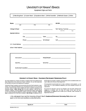 114 printable equipment sign out form templates fillable samples