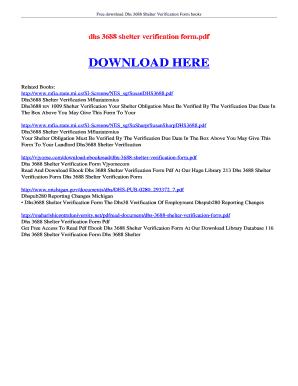 Dhs 3688 Shelter Verification Form - Fill Online, Printable ...