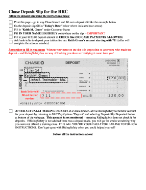 graphic relating to Chase Deposit Slip Printable called chase deposit slip - Edit On the internet, Fill Out Obtain
