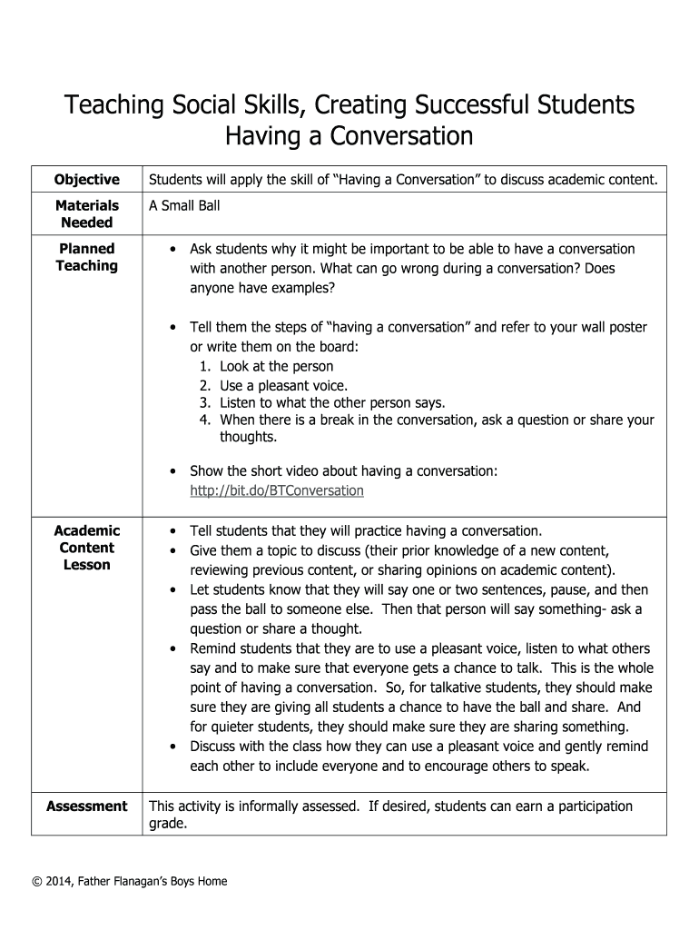 Having a Conversation Fill Online, Printable, Fillable, Blank