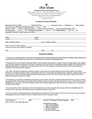 460 6589 Cell 615 305 2021 Fax615 346 0157 Rev Brandon Richowner Director Of Weddings Als Emailbrandon Richevents Org