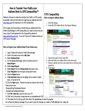 How to Transfer Your FedEx Fill Online, Printable, Fillable