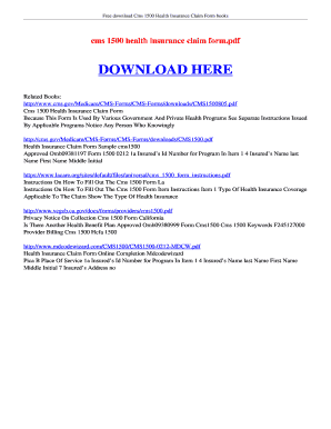 hcfa form download