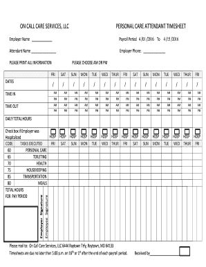 printable home care timesheet template forms and document. Black Bedroom Furniture Sets. Home Design Ideas