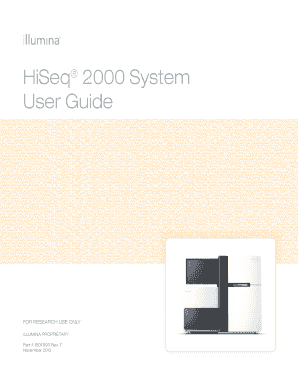 hiseq2000 quick reference guide form