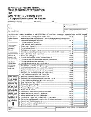 Fillable Online Colorado C Corporation Income Tax Form State - Corporation legal form