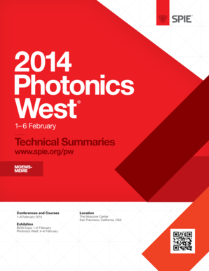 Abstracts for MOMEMS-MEMS 2014 - SPIE - spie