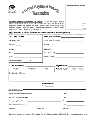 Business case for approval of a new commercial activity forms and prompt payment invoice transmittal form city of oakland thecheapjerseys Images