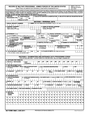 Fillable Online DD Form 1966, Record of Military Processing ...