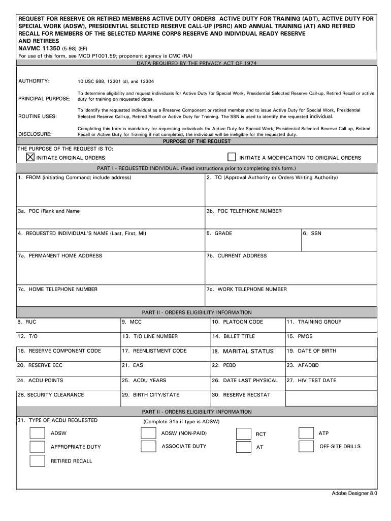 Navmc 11350 - Fill Online, Printable, Fillable, Blank