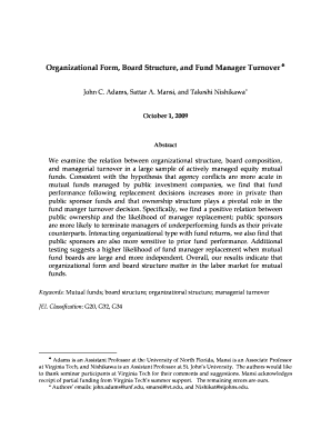 Organizational Form, Board Structure, and Fund Manager Turnover - fma