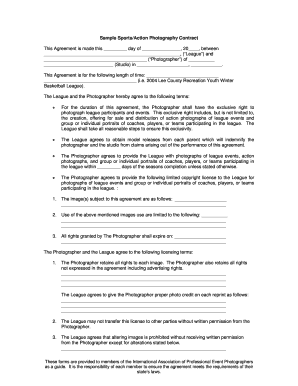Sports Contract Template Fill Online Printable Fillable Blank - Blank contract forms