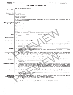 Sublease Agreement Nyc Form