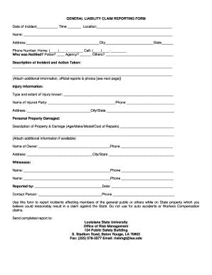 editable generic personal action form fillable printable online