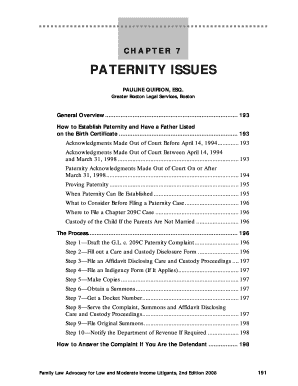 Paternity affidavit sample printable templates to fill out.
