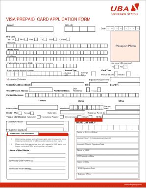 Fillable Online VISA PREPAID CARD APPLICATION FORM - CIMA ... on twic application form, loan application form, board application form, invitation application form, credit application form,