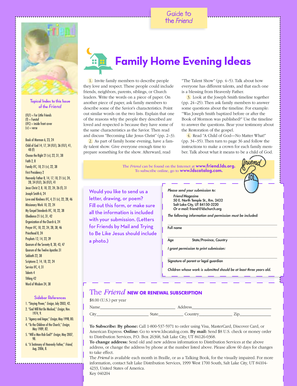 fillable online media ldscdn guide to family home evening ideas