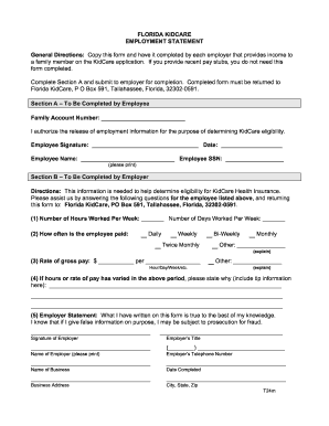 Florida Kidcare Form