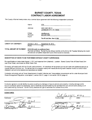 Contract Sample Form