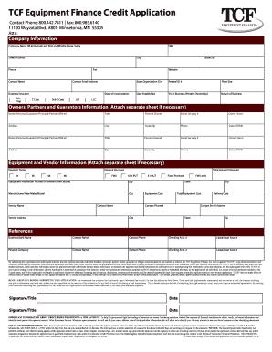 generic credit application