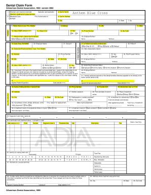 Fillable Online Anthem Blue Cross Dental Claim Form.pdf ...