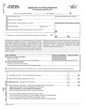 az tax extension form 204