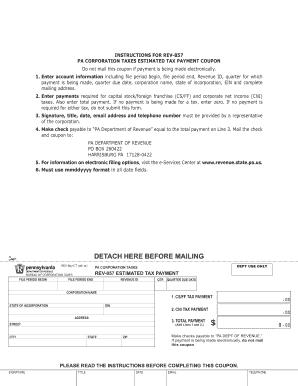 pa dept of revenue form rev 757 - Edit, Fill, Print & Download ...
