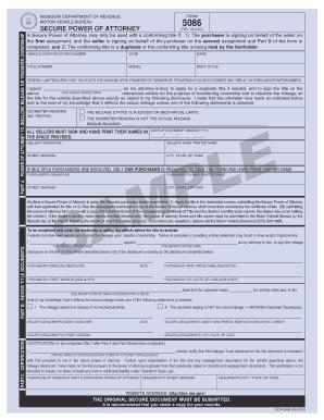 Bill Of Sale Form Missouri Motor Vehicle Power Of Attorney