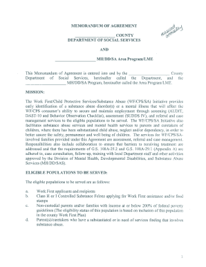 Memorandum Of Agreement Moa Forms and Templates - Fillable ...