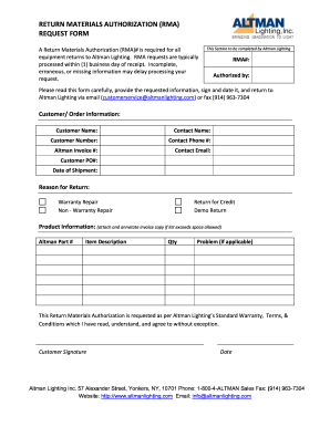 Rma Request Form - Fill Online, Printable, Fillable, Blank | PDFfiller
