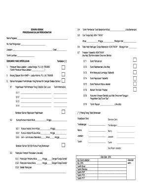 Senarai Semak Pemberian Taraf Berpencen Fill Online Printable Fillable Blank Pdffiller