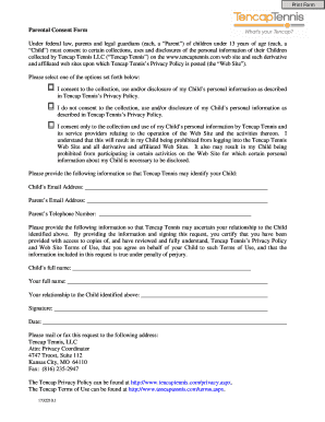Parental Consent Form - btencapsportsbbcomb