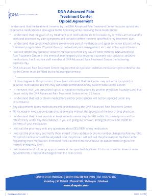 opioid agreement form - Edit, Fill, Print & Download ...
