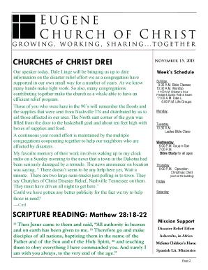 churches of christ drei eugene church of christ