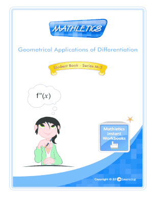 Fillable Online Geometrical Applications of Differentiation ...