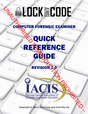 CF Quick Reference Guide 2.0 Sample - Lock and Code
