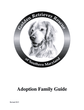 Fillable Online goldenretrieverrescueofsouthernmaryland Adoption